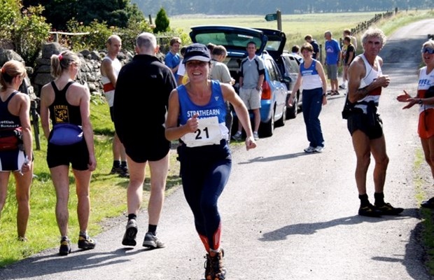 Shelagh on Leg 2 of the Comrie Hills